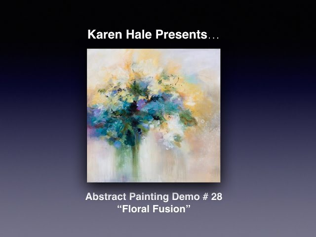 Painting Abstract/Impressionistic Flowers - acrylic paint on canvas
