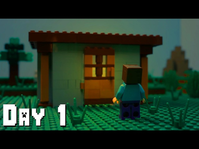 LEGO Minecraft Survival Day 1 Stop Motion Animation