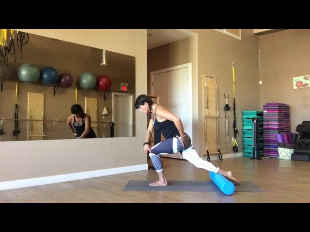 Foam Roller Mat Pilates with Trainer Fiona Hermanutz