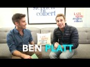 Ben Platt's Late Show Dressing Room QA