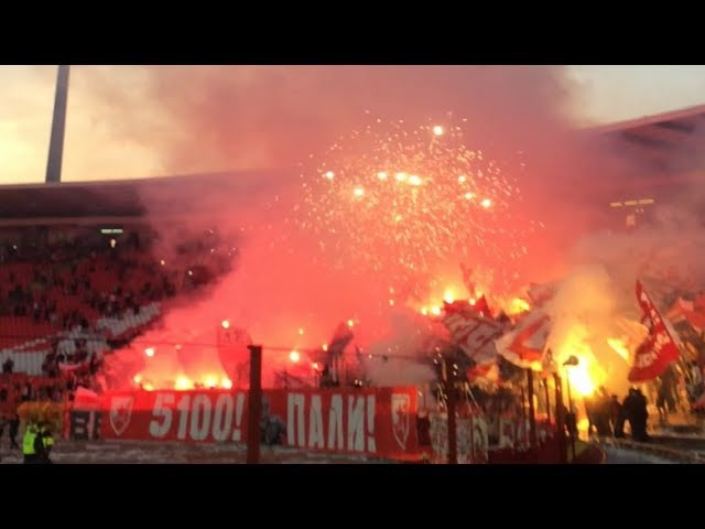 Delije pred Arsenal - Spektakulatrna bakljada i vatromet iz drugog ugla | Crvena zvezda - Mačva 4:0