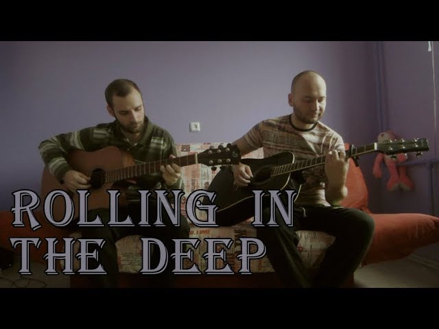 Adele - Rolling in the Deep (acoustic guitar cover, tabs)