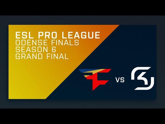 LIVE: CS:GO - SK vs. FaZe - Grand Final [Overpass] Map 2 - ESL Pro League Season 6 Finals