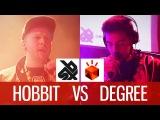HOBBIT vs DEGREE  Grand Beatbox Battle 2014  Loopstation Quarter Final