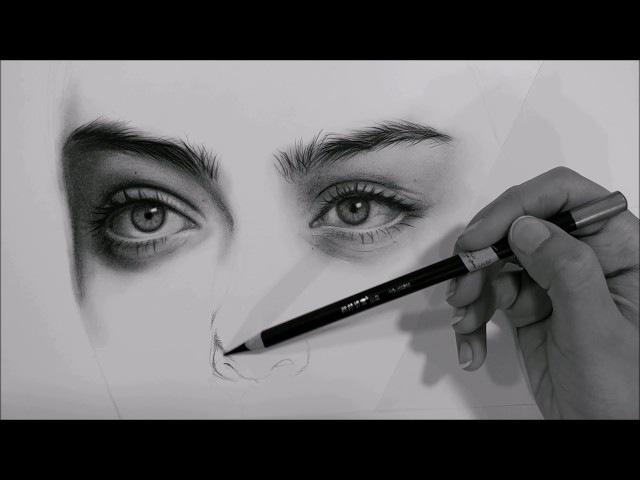 درس تظليل بورتريه بالفحم shading a portrait (charcoal)