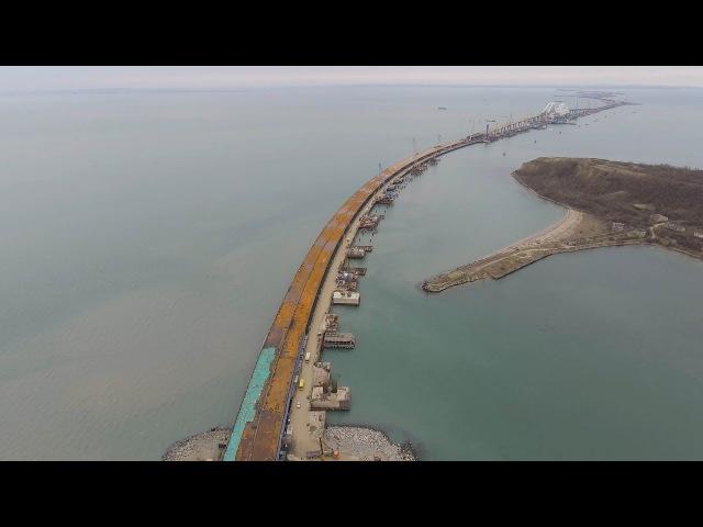 Крымскій мостъ 4K: Участокъ криволинейной надвижки