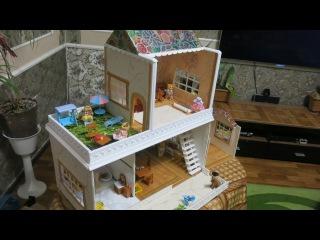 4- ЧАСТЬ Кукольный домик для Сильваниан фемели своими руками из картона ПОШАГО...