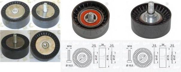 Паразитный / ведущий ролик, поликлиновой ремень для ALFA ROMEO SPIDER (939)
