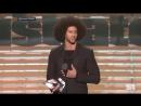 Colin Kaepernick accepts Muhammad Ali Legacy Award from Beyonce