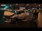 В Петербурге легковушка врезалась в пожарную машину