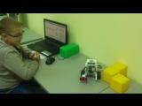 2017.10.10 - Lego EV3 Владислав параллельная парковка кнопка + УЗ датчик