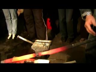 Сварка клинка из торсированного дамаска. Damascus steel blade