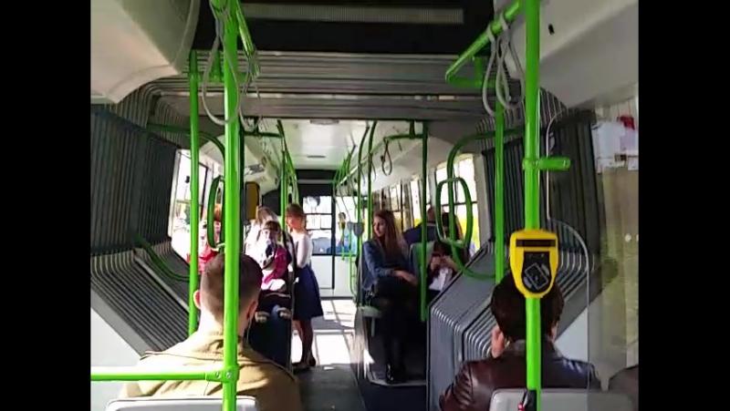 Минский электробус БКМ-433 Vitovt MAX На второй день маршрутной работы.