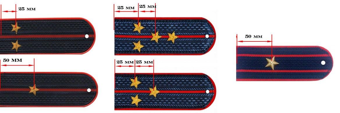 Схема погон лейтенант