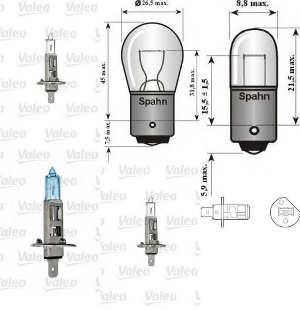 Лампа накаливания, основная фара для ALFA ROMEO RZ