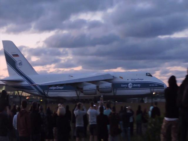 Antonow An-124 Rusłan wystartował z lotniska Gdańsk Rębiechowo. Airport Gdansk