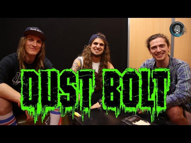 Interview DUST BOLT - Lenny Breuss, Bene Münzel Flo Dehn - Hellfest 2016 (french subtitles)
