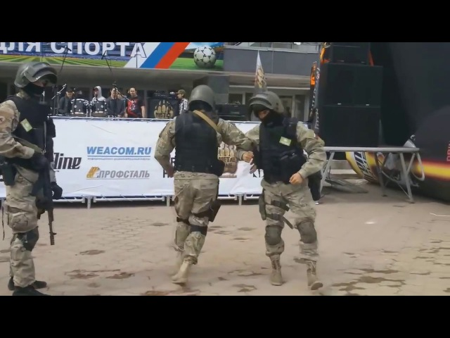 Russian Army And Special Forces Dancing