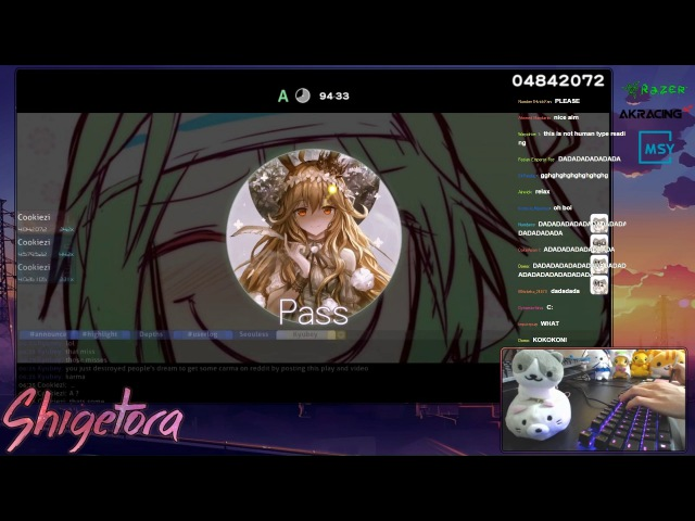 Cookiezi going GOD MODE on DADADADADA [ULTRA BERZERK] 10.04* HD PASS, 45x miss IMPROVED Livestream!