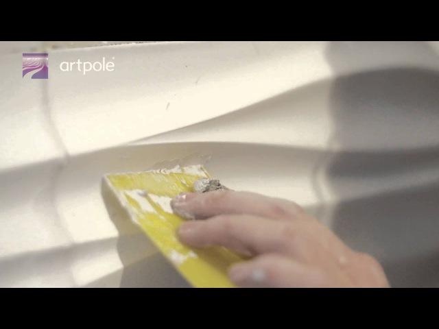 Инструкция по монтажу 3D гипсовых панелей Artpole