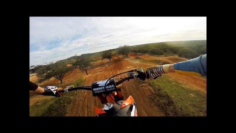 Chest View 125 at James Stewarts Compound ft. Challen Tennant - Dirt Bike Addicts