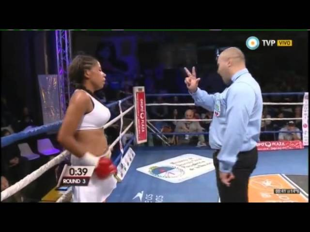 Maria MADERNA vs Angela MARCIALES - WBO - Full Fight - Pelea Completa