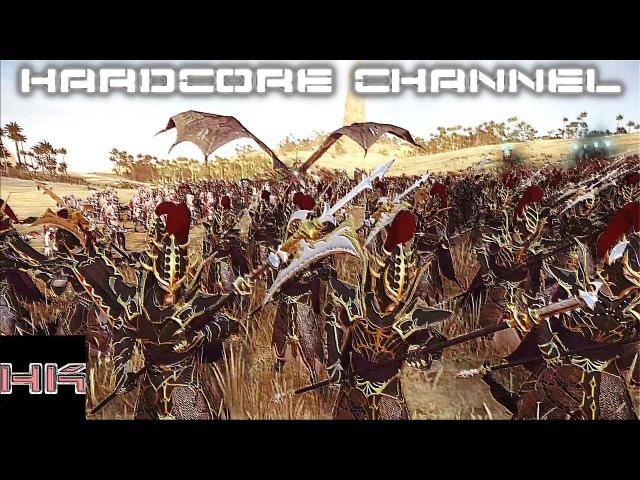 Total War Warhammer 2 - прохождение Hardcore Темные эльфы =25= Неугомонная нежить