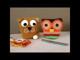 Gato Coruja - Cat and Owl em croch