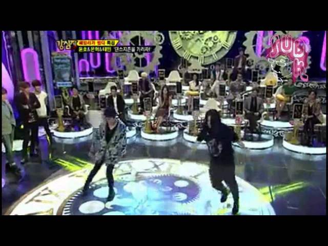 121113 Strong Heart Ep 154 Eunhyuk dancing Only One with ShinDong