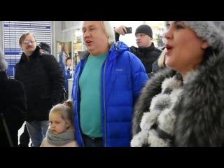 Флешмоб на владимирском вокзале