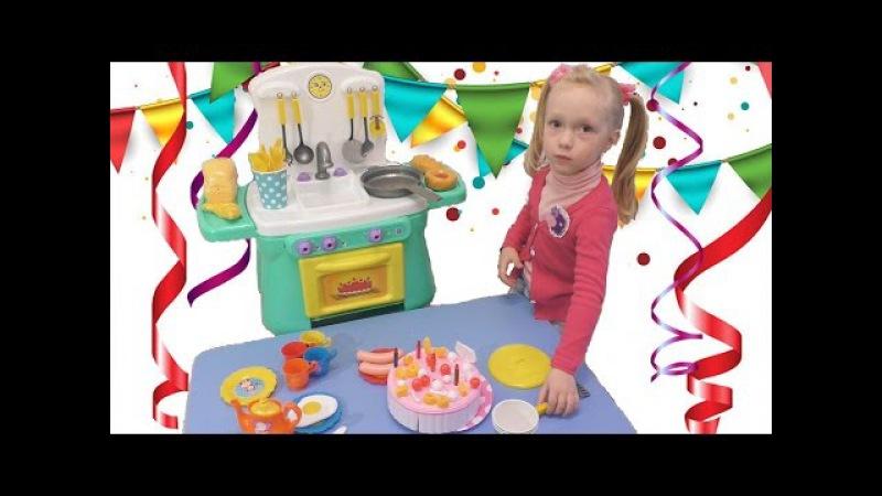 Детская кухня игровой набор для девочек, сюрприз в духовке Children's kitchen