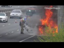 Major Vehicle Fire on the M6 Toll Motorway