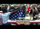 Boston ANTIFA Drags Women Holding American Flag