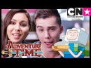 Adventure Time Minecraft Episode Sneak Peek with Olivia Olson and Jeremy Shada | Cartoon Network.[Animation Art]