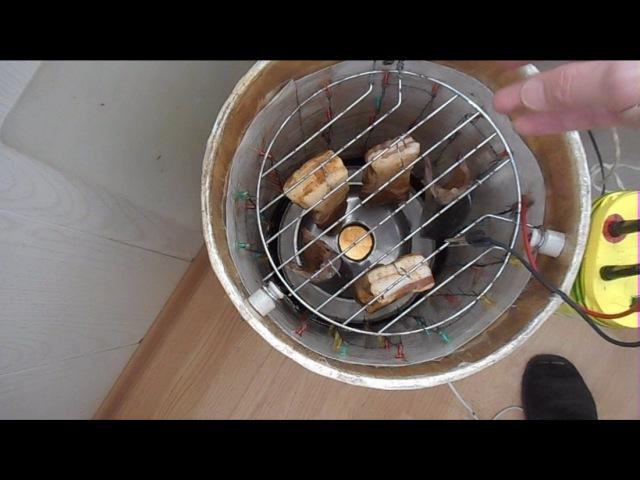 Домашняя электро статическая коптильня Ч.2 Холодное копчение на балконе