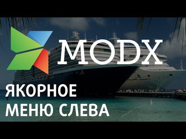 Якорное меню слева с прокруткой вдоль страницы на Modx «Ядвига:Стартовый пакет»