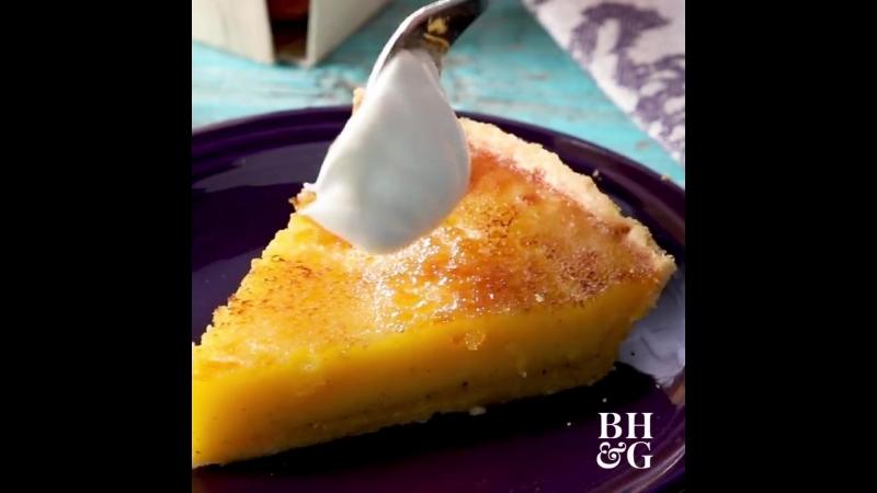 пирог крем-брюле, Creme Brulee Pie