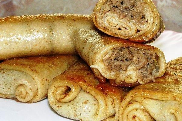 Блинчики с мясом Потрясающе вкусный рецепт блинчиков с