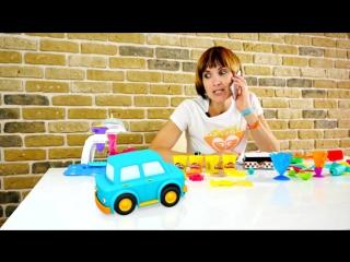 Видео для детей. Умные машинки, Маша Капуки Кануки и Плей До набор Инструменты