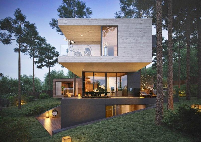 Дом от дизайнера Александры Фёдоровой в поселке Изумрудные холм
