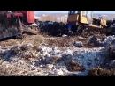 Т 170, Т 130 гусеничные ТРАКТОРа застрявшие на бездорожье! Смотреть онлайн видео.