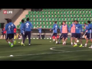 В Краснодаре проходит тренировка национальной сборной России по футболу