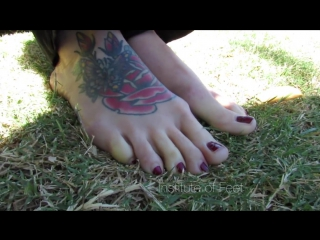 41-year-old jessica shows tattooed feet and soles
