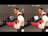 Различия в Team Fortress 2 между 2007 и 2017 годами.
