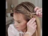 Красивое плетение на распущенные волосы