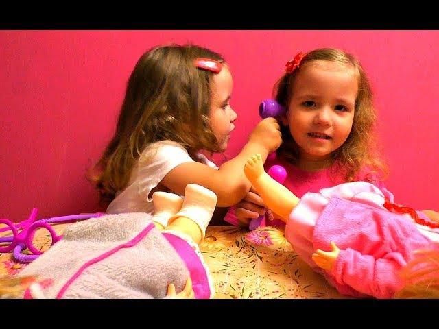 ИГРАЕМ В ДОКТОРА. Доктор Плюшева игрушки набор Doc McStuffins. Играем в доктора с куклами