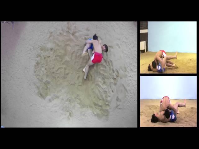 한국씨름연구소- 대한민국씨름 기술 1,혼합(연결)기술-앞무릎치기 뒷무릎치445