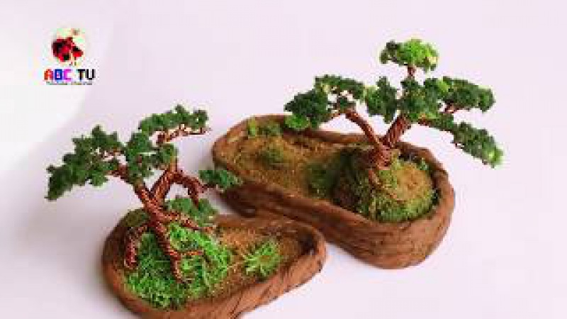 ABC TV   How To Make A Bonsai Tree From Copper Wire - Craft Tutorial 2