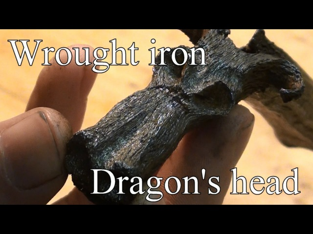 Forging a Dragon's Head out of wrought iron