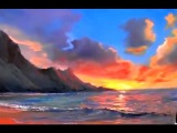 Paint sunset over the sea. Paint seascape easy way. Painting techniques for beginners from Sakharov